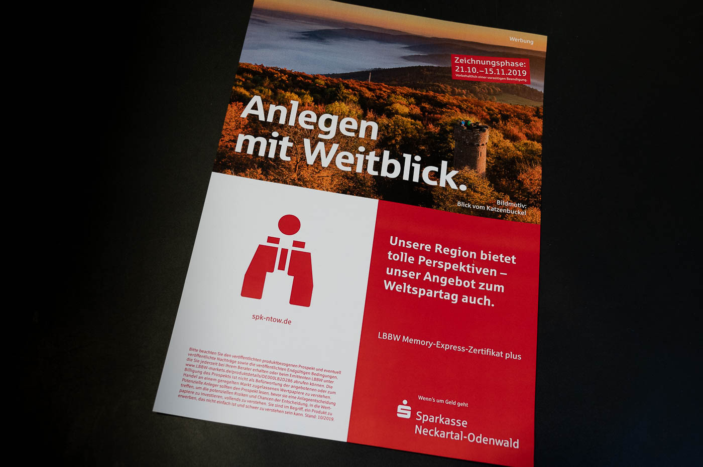 Werbung Sparkasse Neckartal-Odenwald