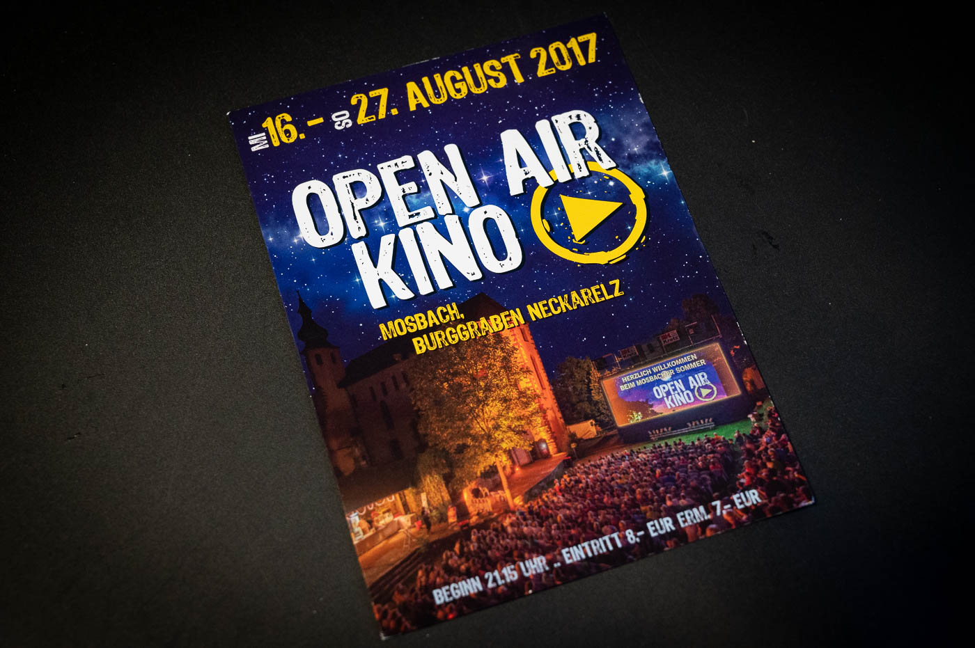Flyer Mosbacher Openair-Kino