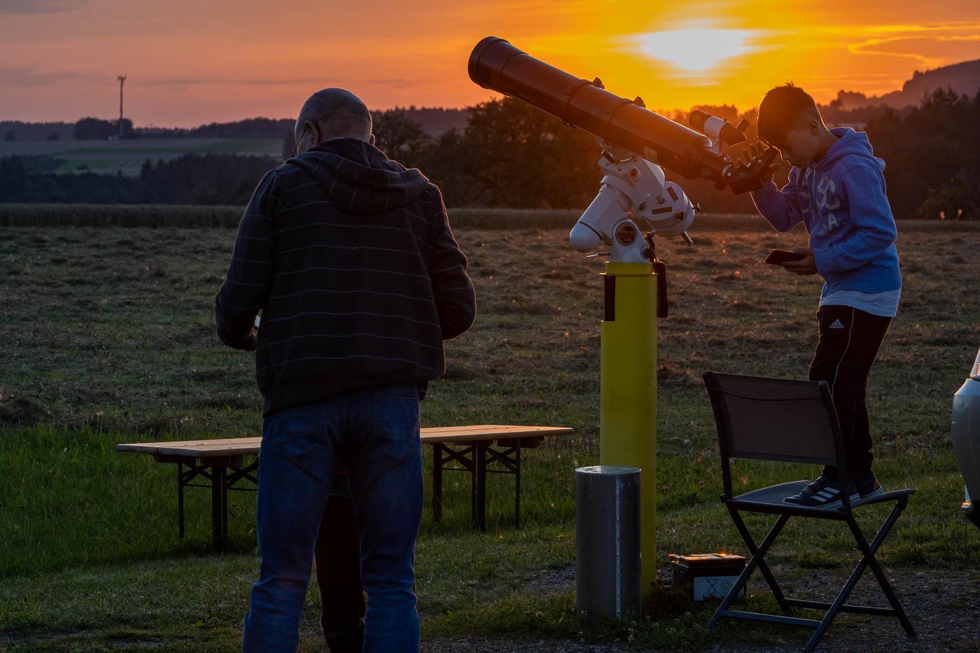 Sonnenuntergang bei der Sternwarte Weisbach