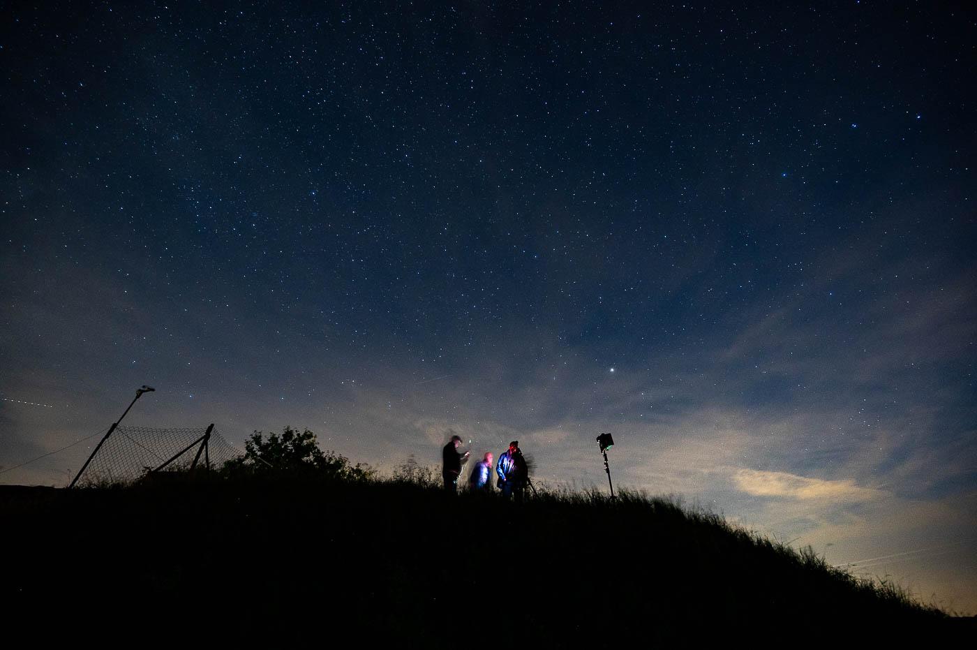 Sternenhimmel über dem Odenwald