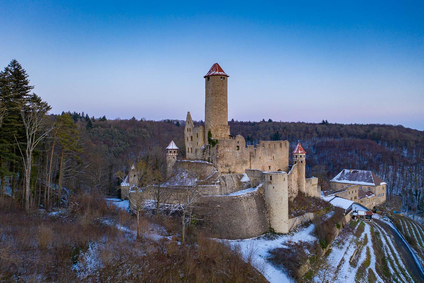 Burg Hornberg im Winter