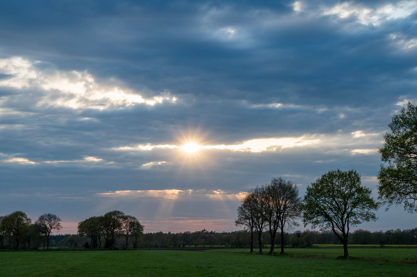 Sonnenuntergang im Ammerland